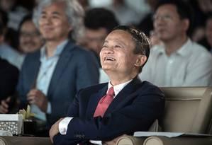 CEO da Alibaba, Jack Ma, vai se aposentar Foto: Qilai Shen / Bloomberg