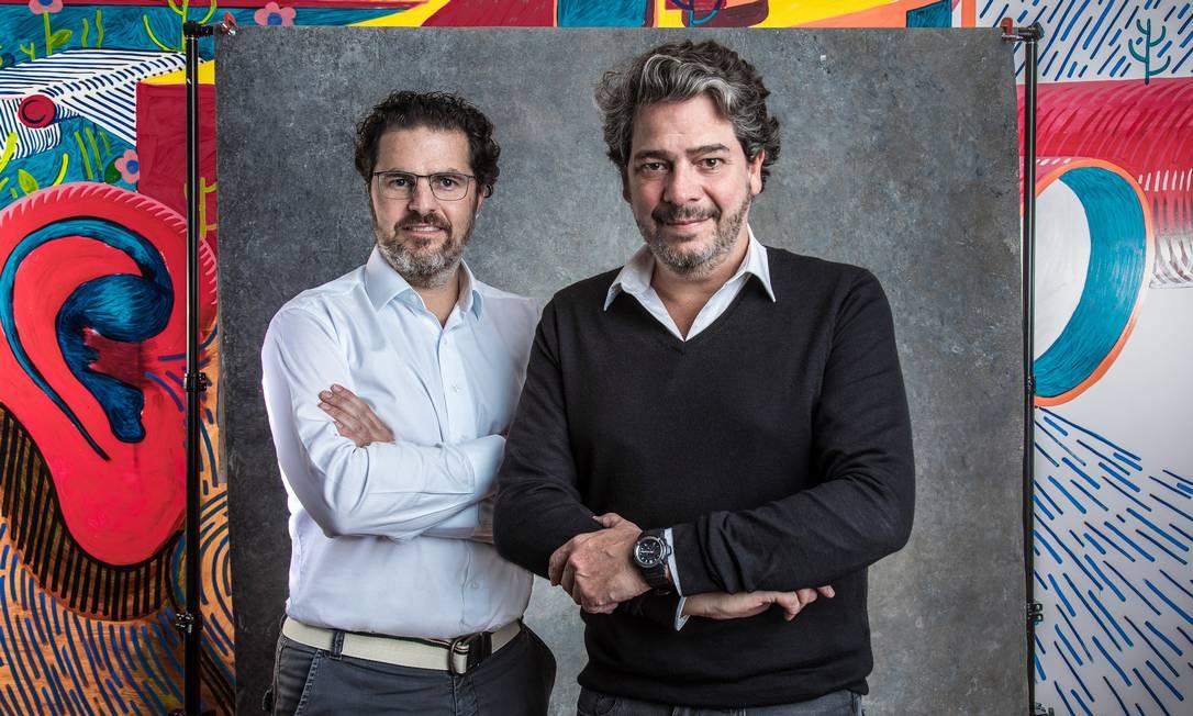 Desafio. Alexandre Grynberg (à esquerda) será o diretor de Soluções Integradas na equipe liderada por Eduardo Schaeffer, diretor de Projetos Integrados. Foto: SERGIO ZALIS / TV Globo