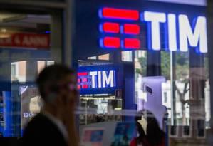 Loja da TIM na Itália Foto: Alessia Pierdomenico / Bloomberg