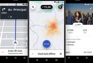 Aplicativo do Uber Foto: Divulgação