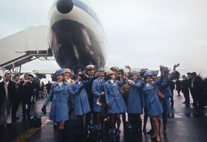 Voo inaugural do 747 da PanAm com destino a Londres Foto: Bloomberg