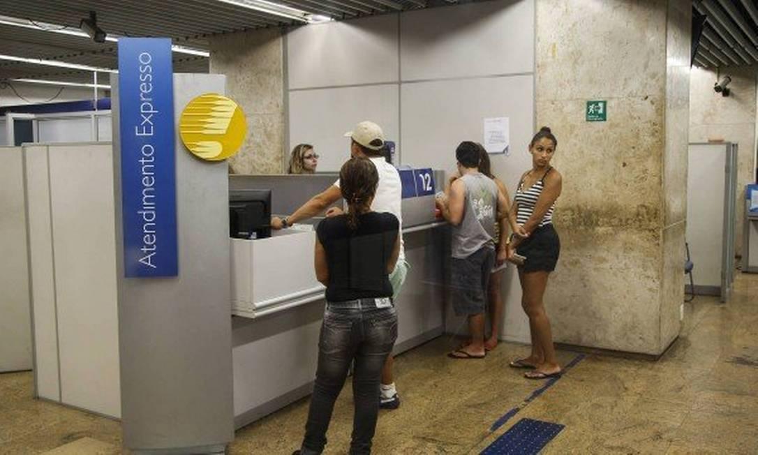 Agência bancária para retirada do PIS/Pasep Foto: Agência O Globo