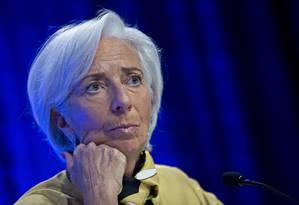 Diretora-gerente do FMI, Christine Lagarde Foto: Andrew Harrer / Bloomberg