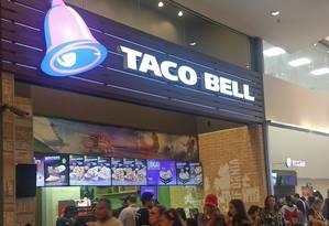 Loja da Taco Bell em São Paulo Foto: Agência O Globo