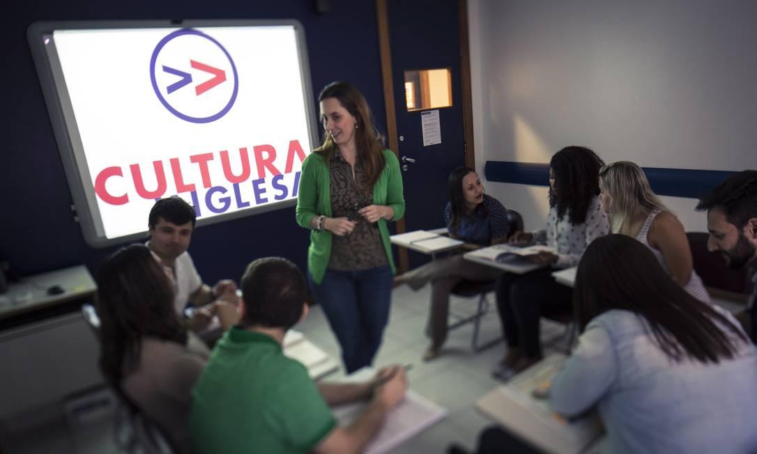 Sala de aula de unidade da Cultura Inglesa no Rio de Janeiro Foto: Leo Martins / Agência O Globo