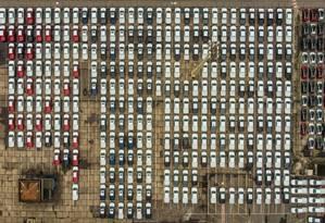 Carros estacionados no Porto do Rio Foto: Agência O Globo