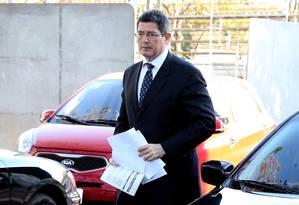 Jpaquim Levy em foto de 2015, quando era ministro da Fazenda do governo Dilma Foto: Aílton de Freitas / O Globo / Arquivo