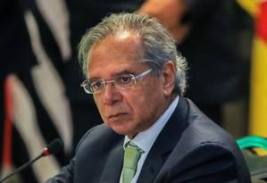 O ministro da Economia,Paulo Guedes Foto: SERGIO LIMA / AFP