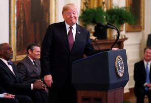 Presidente americano Donald Tramp na Casa Branca Foto: LEAH MILLIS / REUTERS