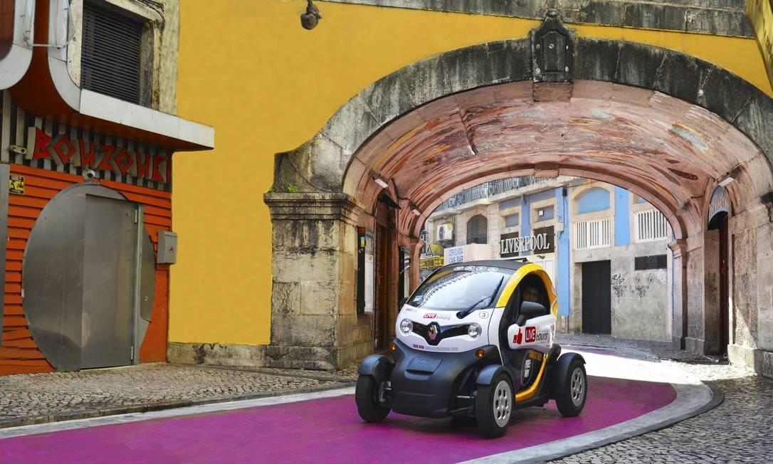 Com subsídio de € 750 mil do governo português, a start-up Live Electric Tours ampliou sua frota de carros elétricos nas ruas de Lisboa Foto: Divulgação