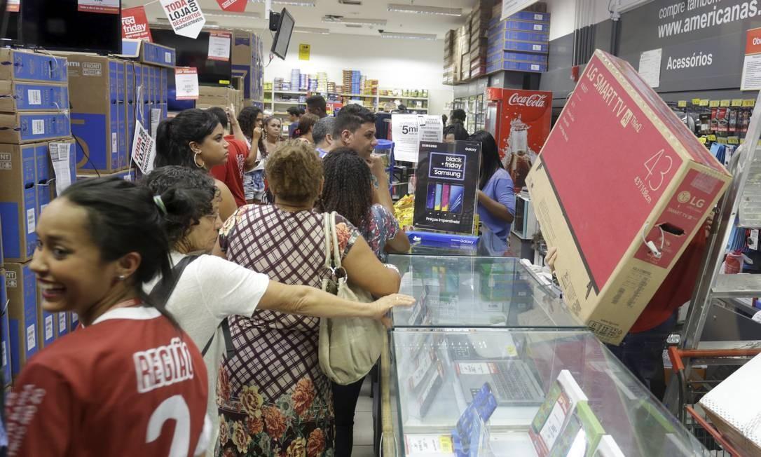 Black Friday no Norte Shopping, no Rio. Foto: Marcelo Theobald / Agência O Globo