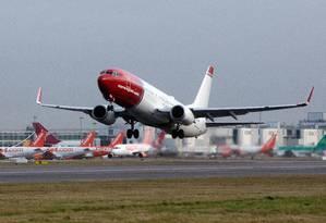 Boeing 737, operado pela Norwegian. Foto: Simon Dawson / Bloomberg