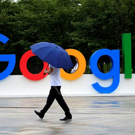 Logo da Google em Shangai, na China Foto: Aly Song / Reuters