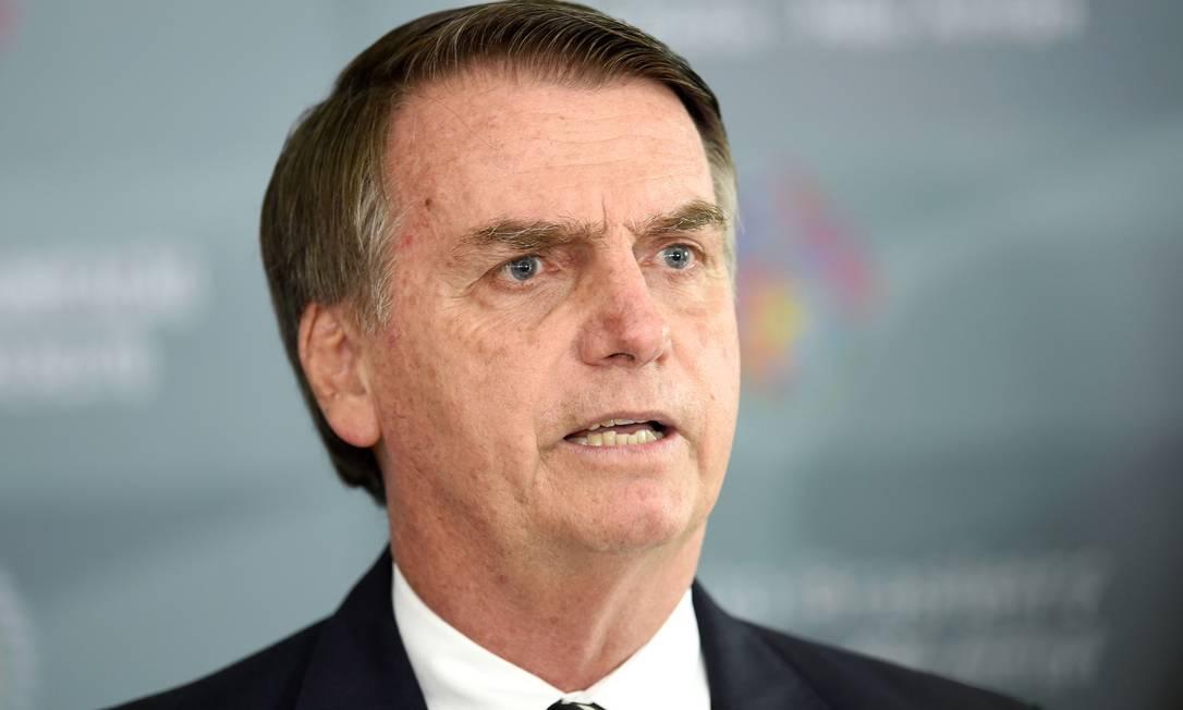 O presidente Jair Bolsonaro participou de reunião com a equipe econômica Foto: EVARISTO SA / AFP