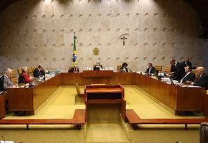 Supremo Tribunal Federal Foto: Ailton de Freitas / Agência O Globo