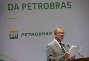 Ministro de Minas e Energia, almirante Bento Albuquerque, na posse do presidente da Petrobras Foto: Agência Brasil