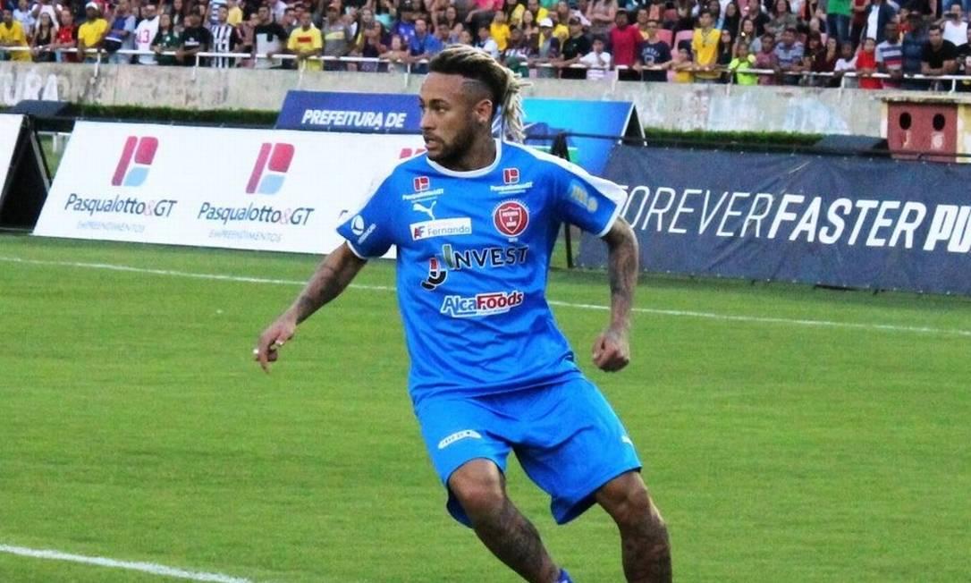 Em dezembro, a JJ Invest apareceu em um dos espaços publicitários mais disputados do mercado esportivo no planeta: o peito de Neymar, no jogo beneficente Futebol contra a Fome, patrocinado pela empresa Foto: Agência O Globo