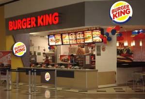Fachada de uma loja do Burger King no Rio Foto: Divulgação