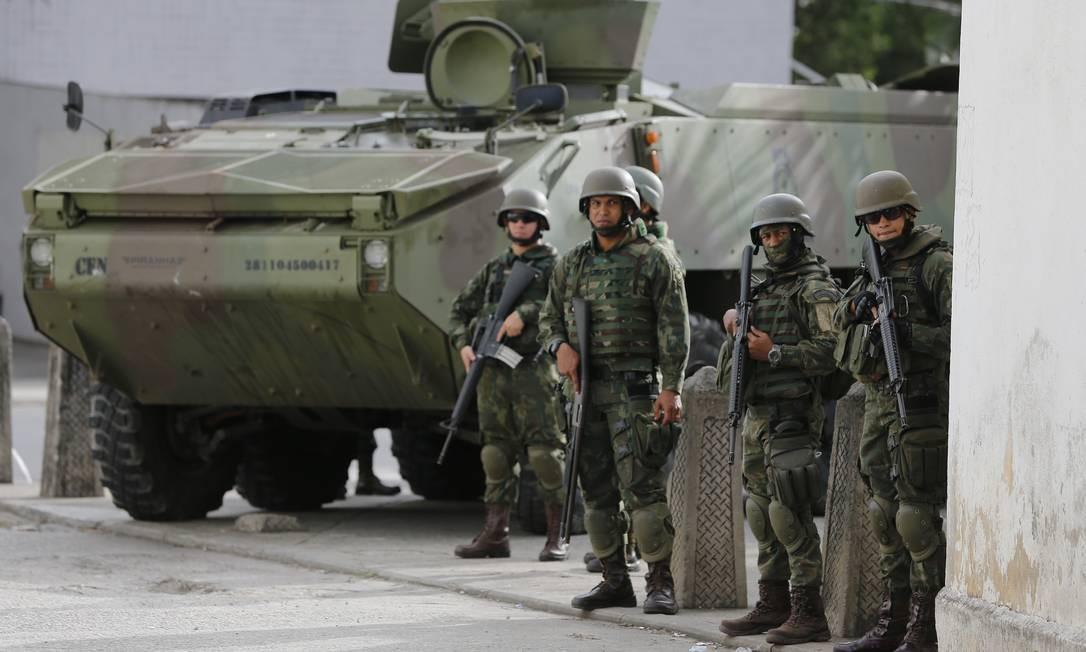 O governo apresentou a versão final da reforma da Previdênica dos militares Foto: Pablo Jacob / Agência O Globo