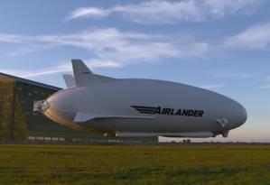 Protótipo do que seria o maior avião do mundo, com 92 metros de comprimento e capacidade para voar por cinco dias Foto: REPRODUÇÃO/HAV