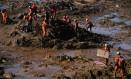 Resgate de vítimas do acidente ambiental em Brumadinho, Minas Gerais Foto: MAURO PIMENTEL / AFP