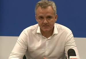 Diretor financeiro da Vale, Luciano Sianti, em entrevista nesta segunda-feira (28/01) Foto: Reprodução