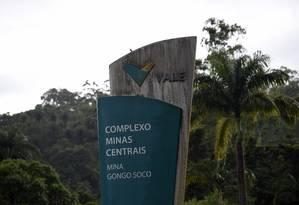Barragem da Vale em Barão de Cocais (MG). Foto: Douglas Magno / O Tempo / Agência O Globo / Agência O Globo