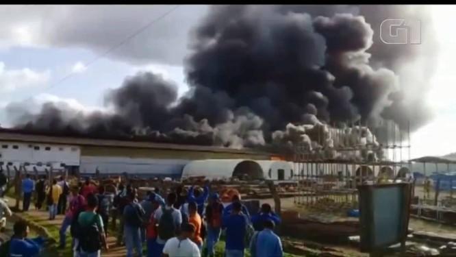 Incêndio atinge usina de Belo Monte, no PA. Foto: Reprodução / Reprodução