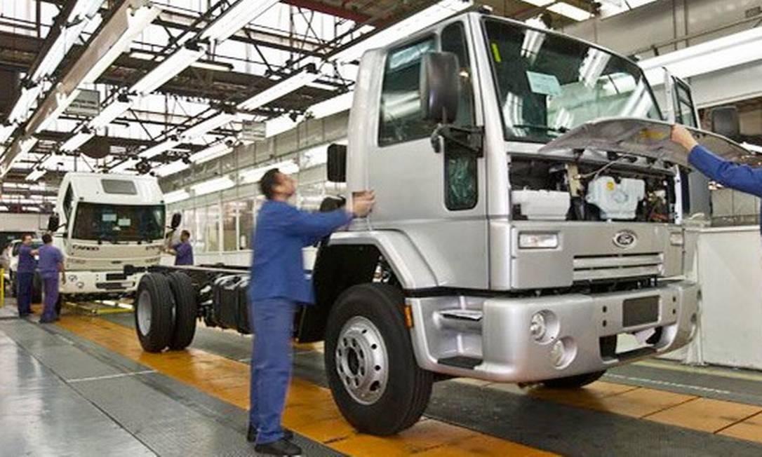Fábrica de caminhões da Ford em São Bernardo do Campo Foto: Divulgação