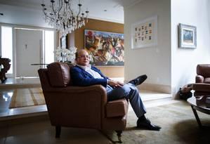 Governador do DF, Ibaneis Rocha (MDB), em sua casa, no Lago Sul Foto: Daniel Marenco / Agência O Globo