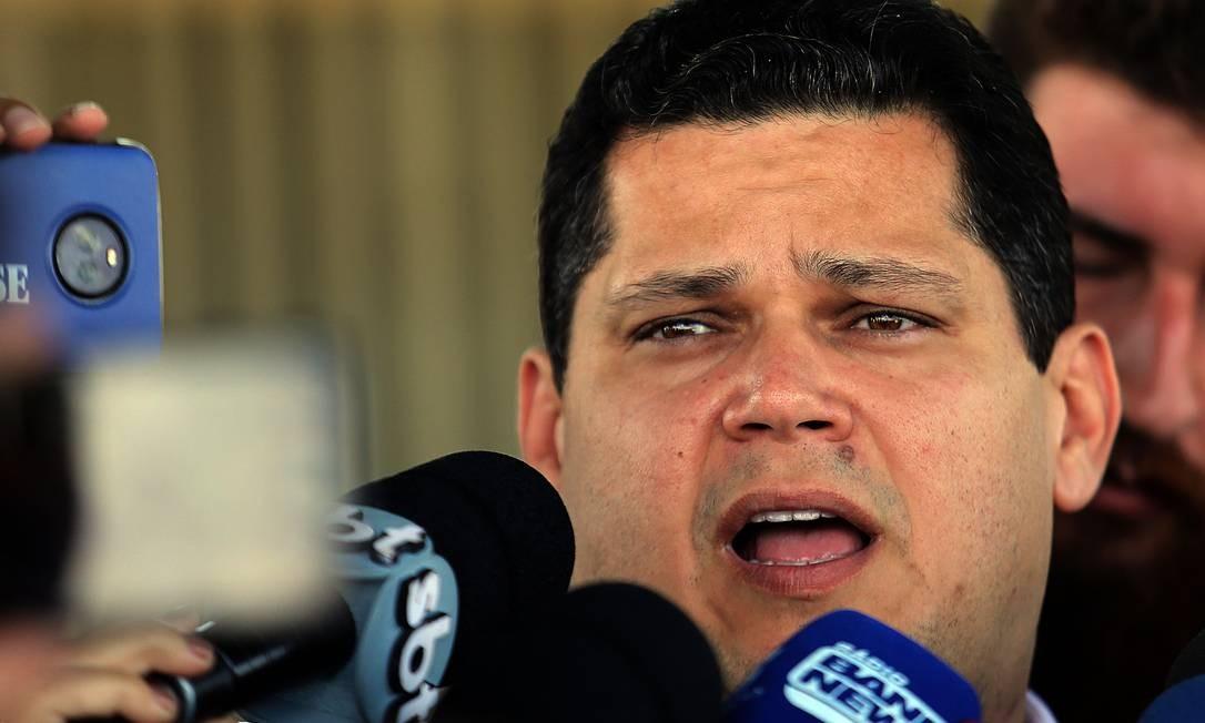 Presidente do Senado, Davi Alcolumbre Foto: Jorge William / Agência O Globo