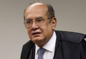 Ministro Gilmar Mendes, do STF, concedeu limar que permite Goiás entrar no Regime de Recuperação Fiscal Foto: Jorge William / Agência O Globo