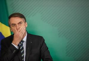 Bolsonaro: espaço para proposta que morreu na praia Foto: Daniel Marenco / Agência O Globo