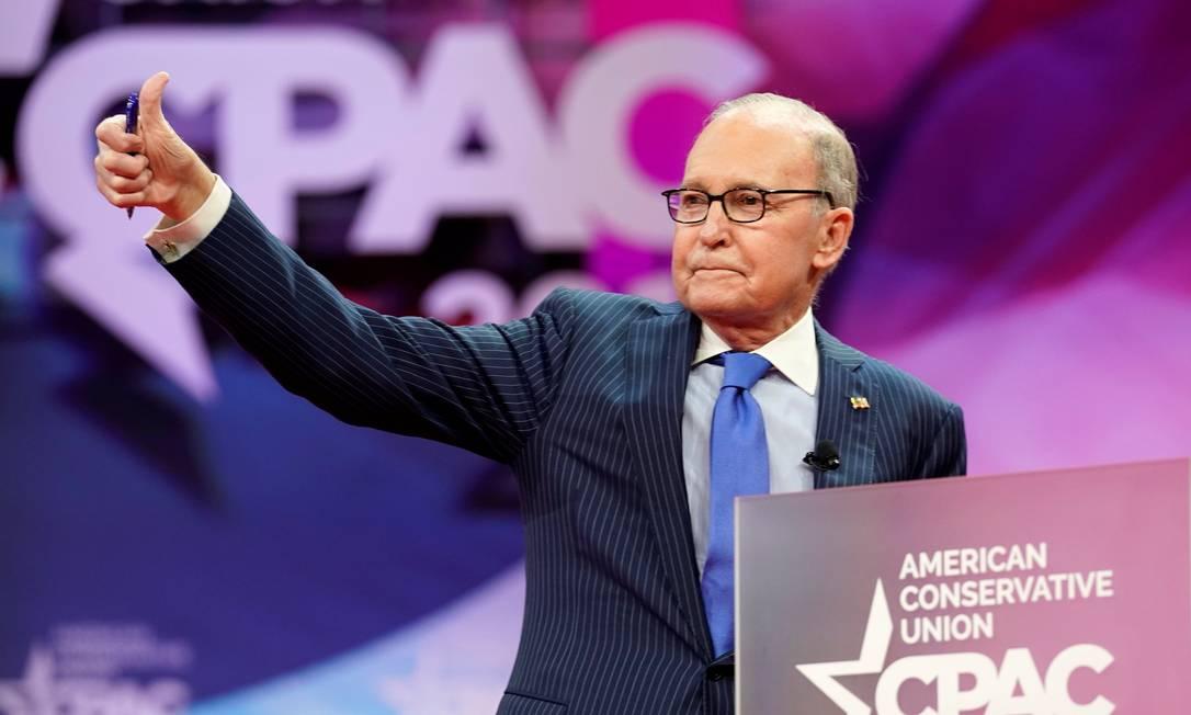 Larry Kudlow, assessor econômico da Casa Branca Foto: Kevin Lamarque / Reuters