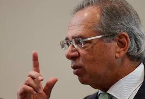 Paulo Guedes, ministro da Economia do Brasil Foto: Adriano Machado / Reuters