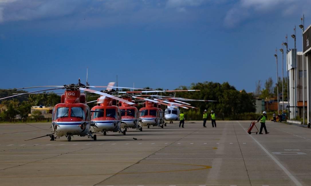 Aeroporto de Macaé, no Rio de Janeiro Foto: Roberto Moreyra / Agência O Globo