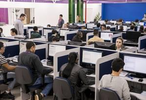 Plataforma on-line naomeperturbe.com.br permite bloquear ligações indesejadas Foto: Gabriel Teixeira / Agência O Globo
