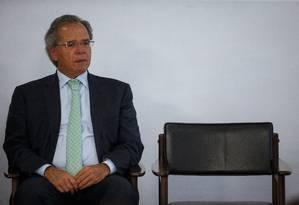 Ministro Paulo Guedes no Palácio do Planalto Foto: Daniel Marenco / Agência O Globo