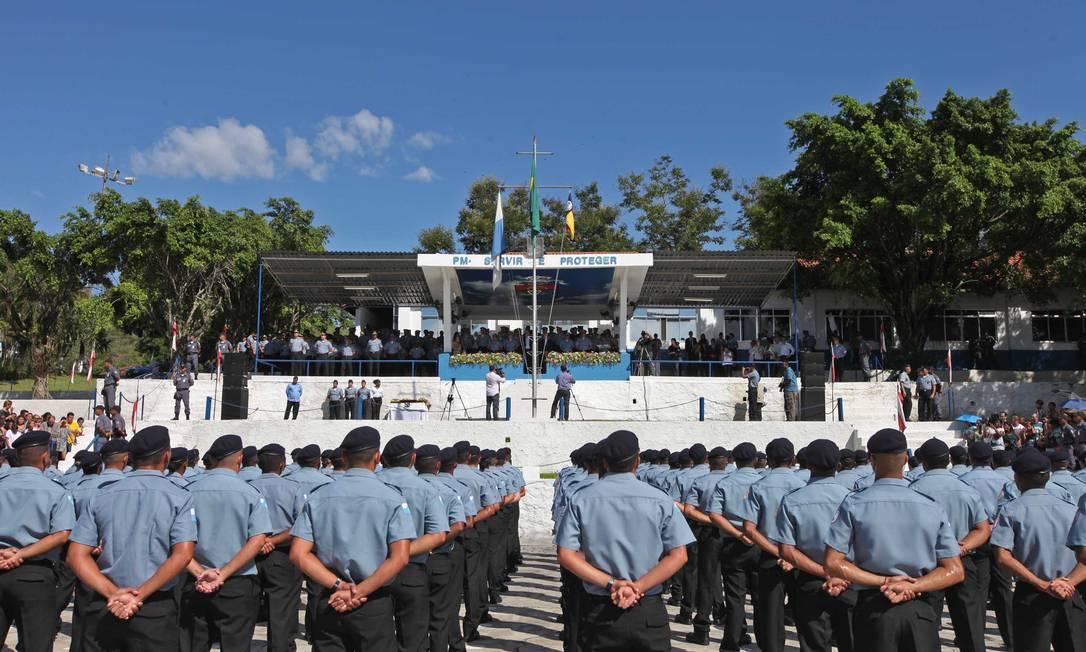 Formatura de soldados da PM Foto: Divulgação / Arquivo