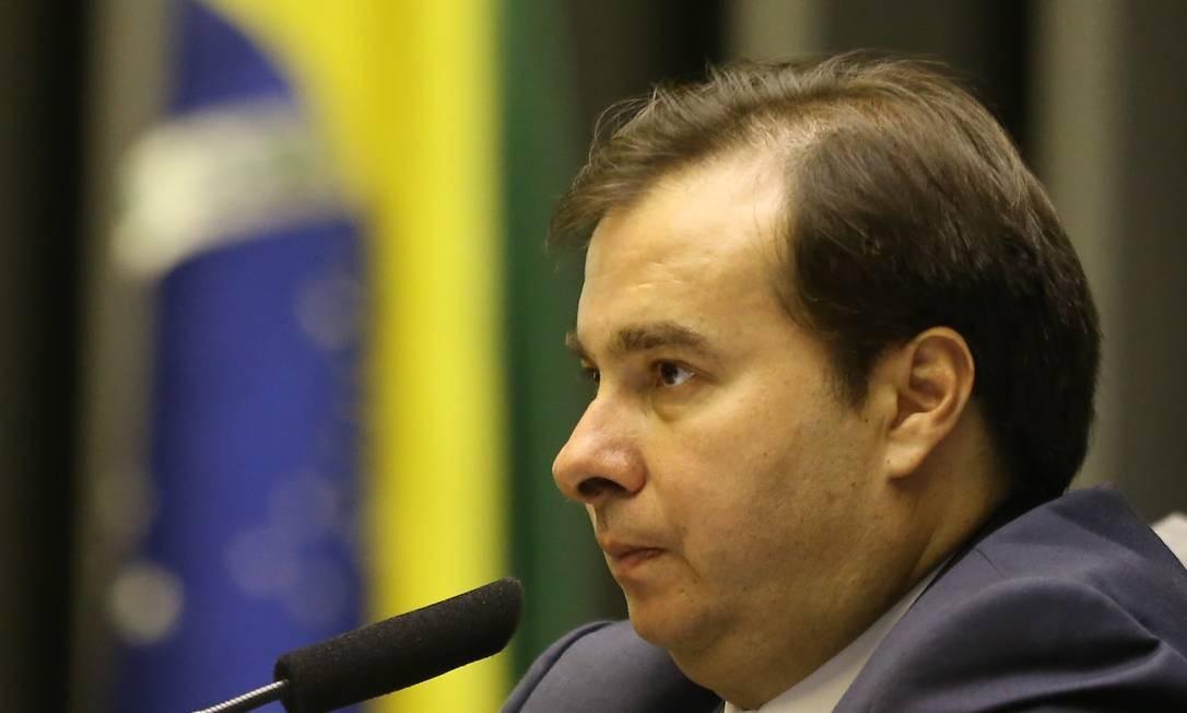 O presidente da Câmara, Rodrigo Maia (DEM-RJ), em foto de 27/03 Foto: DIDA SAMPAIO / Agência O Globo