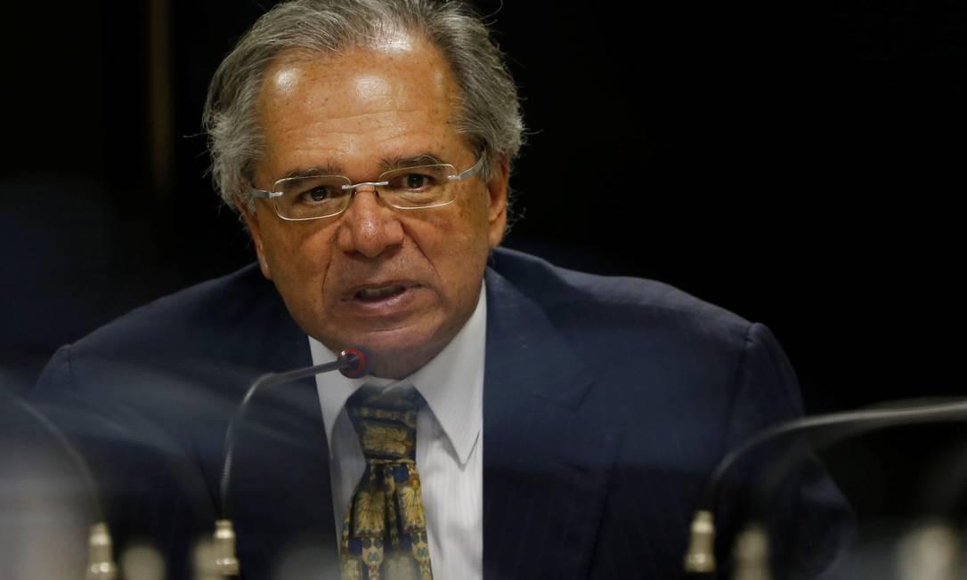 Ministro Paulo Guedes em Brasília Foto: ADRIANO MACHADO / REUTERS