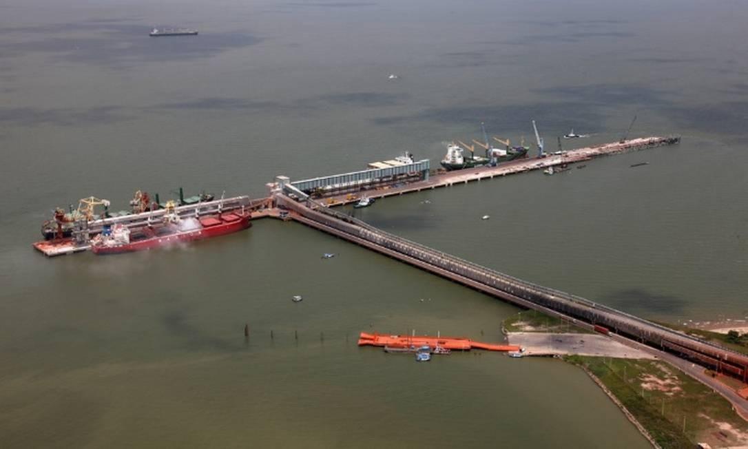 Porto de Vila do Conde, em Barcarena, no Pará Foto: Divulgação