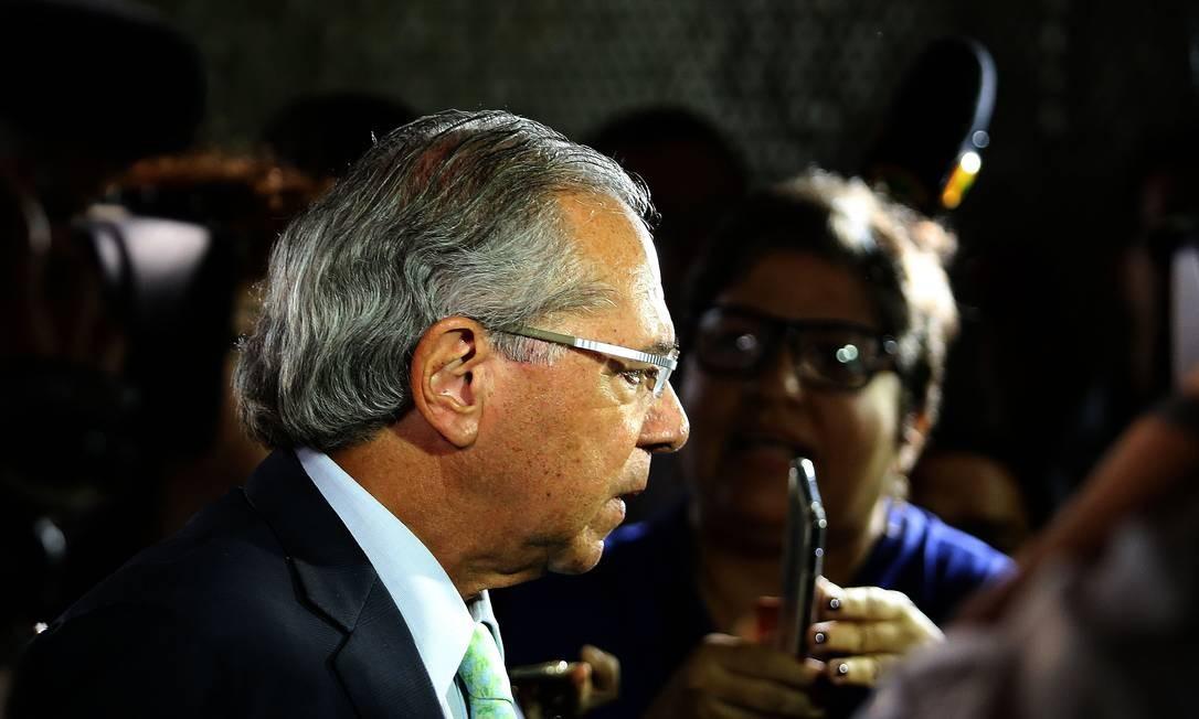 O ministro da Economia, Paulo Guedes Foto: Jorge William / Agência O Globo