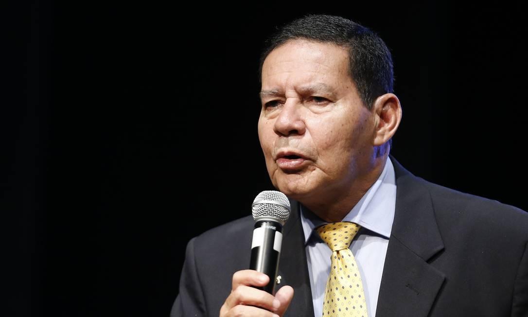 Vice-presidente, Hamilton Mourão, em foto de fevereiro de 2019 Foto: Jorge William / Agência O Globo
