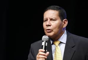 """Mourão: """"Somos um grande exportador de commodities, mas temos que ser mais que isso"""" Foto: Jorge William / Agência O Globo"""