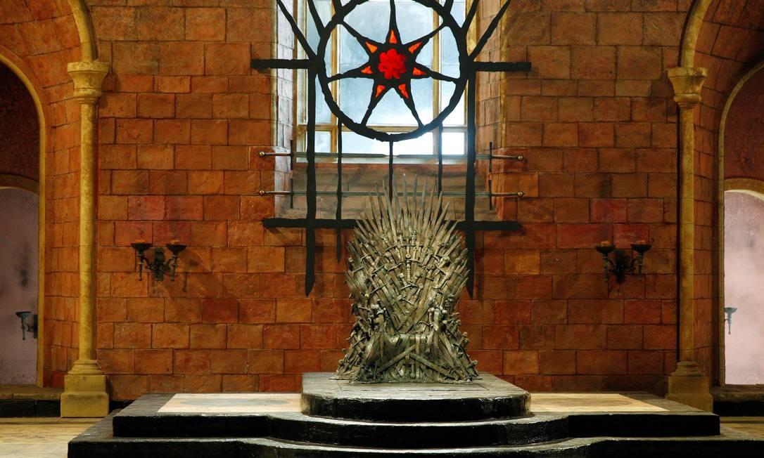 A sala do Trono de Ferro, no cenário da série, em Belfast, Irlanda do Norte. Foto: Phil Noble / REUTERS