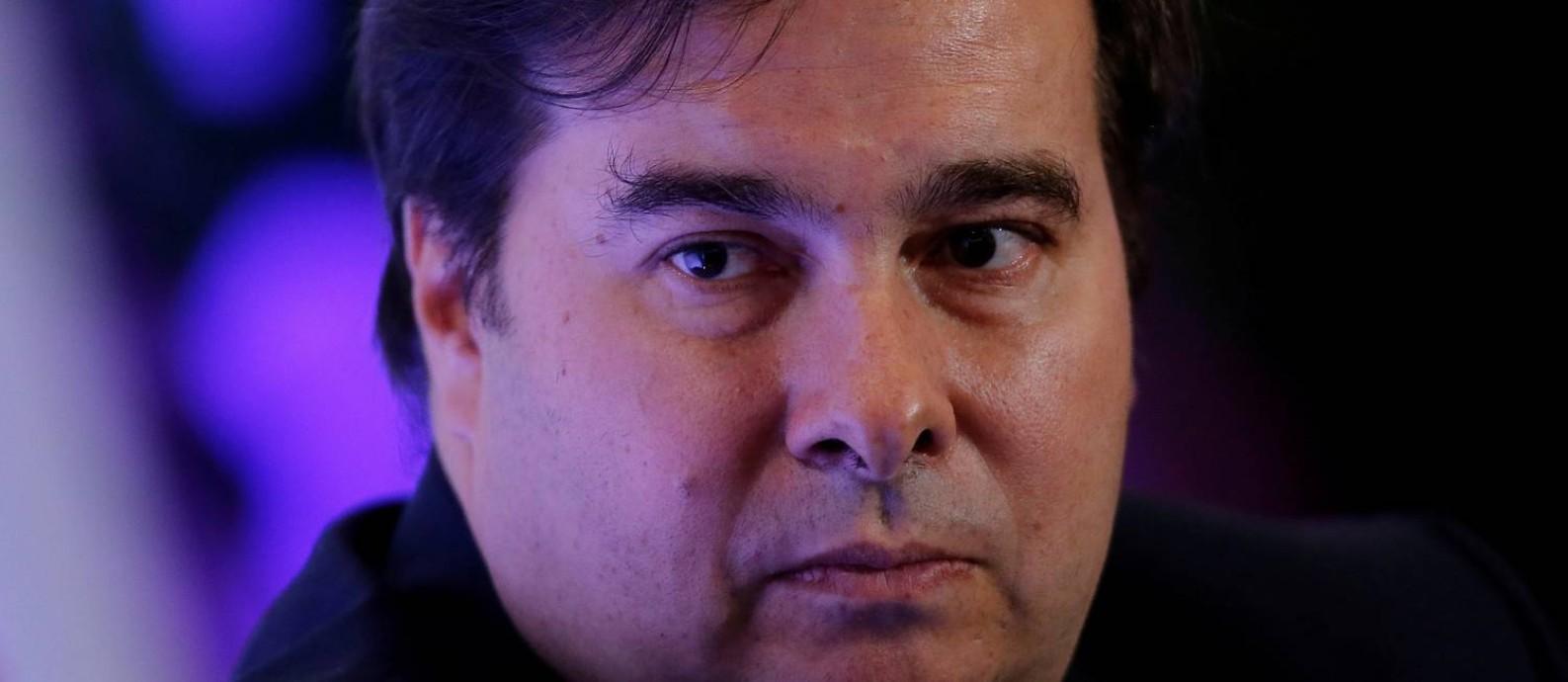 Presidente da Câmara, Rodrigo Maia Foto: Adriano Machado / Reuters