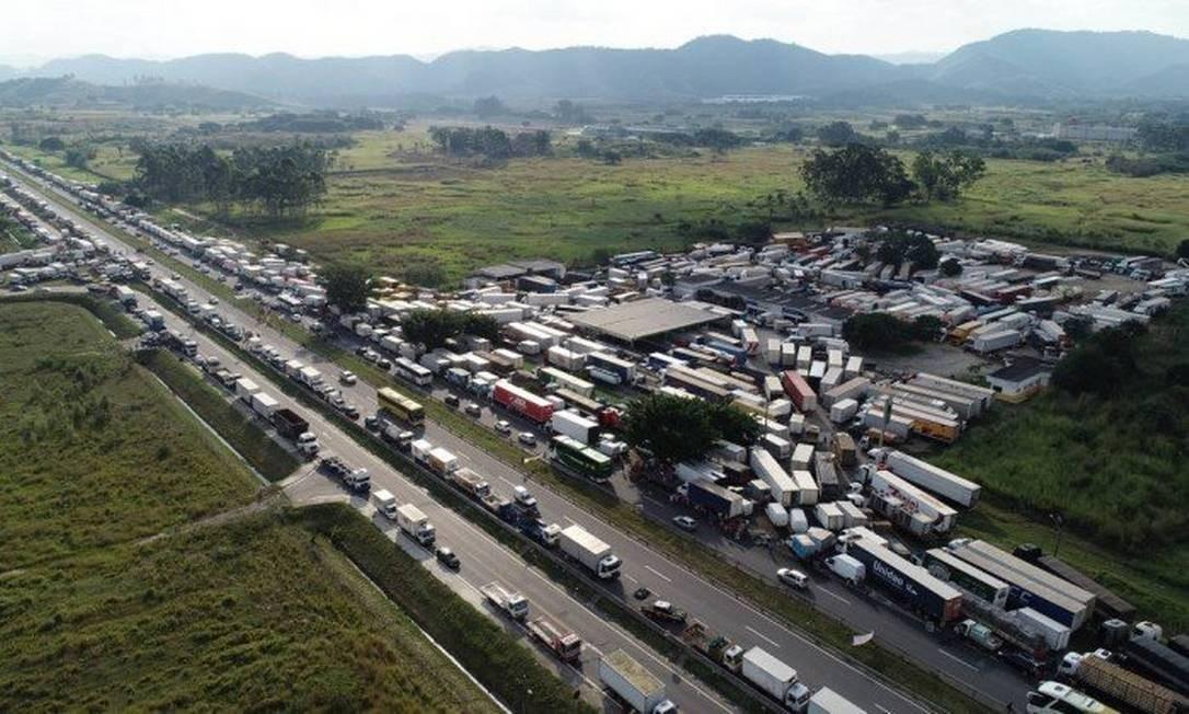 Greve de caminhoneiros em maio de 2018 Foto: Reneé Rocha / Agência O Globo