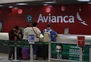 Cancelamentos dos voos da Avianca gara transtornos Foto: Fábio Guimarães / Agência O Globo