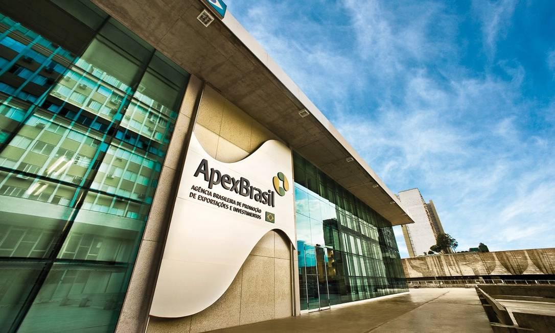 Fachada da sede da Apex Brasil Foto: Divulgação